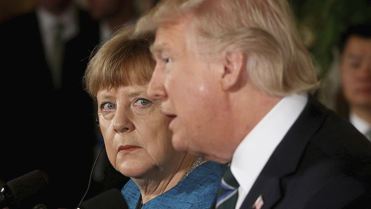 Merkel y Trump sostienen conversaciones de crisis en Washington