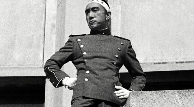 Mishima minutos antes de su muerte