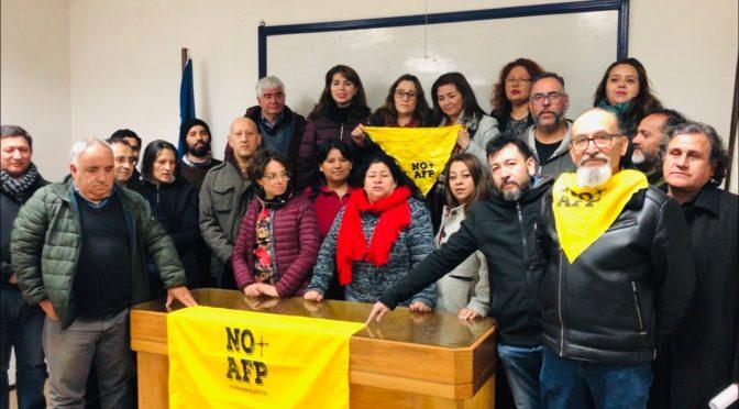 Frente Sindical No+AFP Valparaíso convoca a solidarizar con el Paro de los Profesores