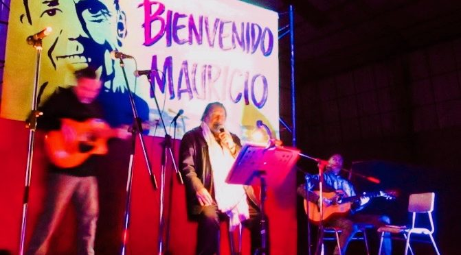 Peña  por la libertad de Mauricio Hernández Norambuena: en el Cerro Esperanza, de Valparaíso