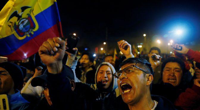 solidaridad con el pueblo ecuatoriano  es luchar contra el imperialismo y sus lacayos donde quiera que estén