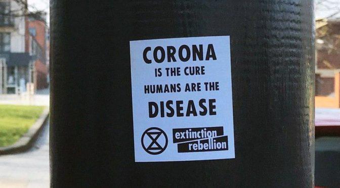 ¡El virus no es la solución al calentamiento global!