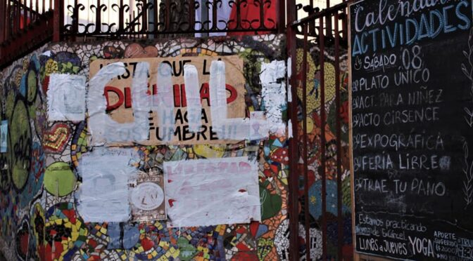 Asamblea del Descanso y la Resistencia denuncia vandalización y robo de material de difusión