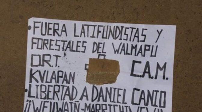 Desde el Lof Llollowenko  llaman a recuperar control territorial y la libertad de Daniel Canio