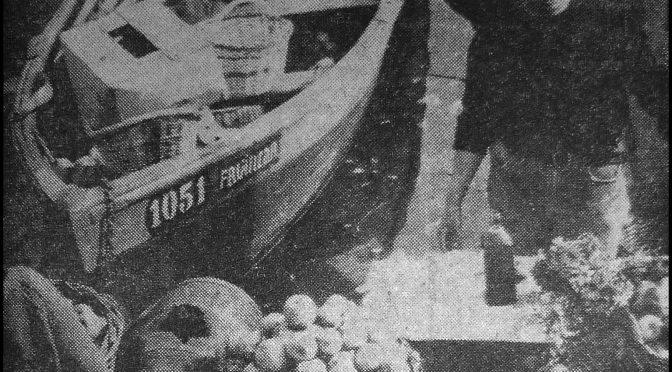 Narración de Juan Navarrete: «Un bote cargado de manzanas»