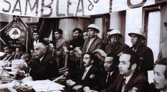 Guillermo Lora: «La experiencia de la Asamblea Popular»