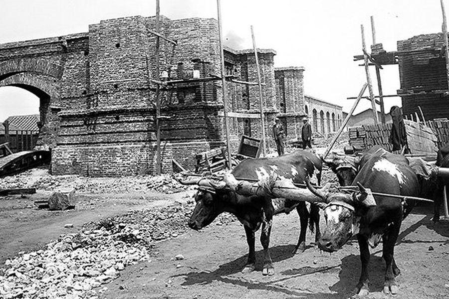 Construcción de la Estación Mapocho