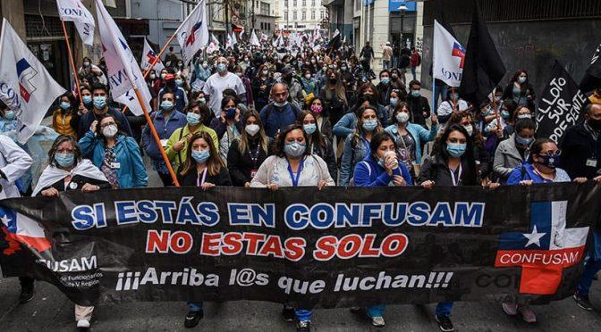 Valparaíso: Movilización por la Salud, libertad a los presos políticos y funa a diputados del Frente Amplio