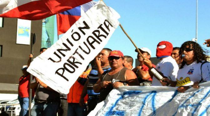 """Unión Portuaria: """"Hacemos un llamado al pueblo de Chile a movilizarse"""""""