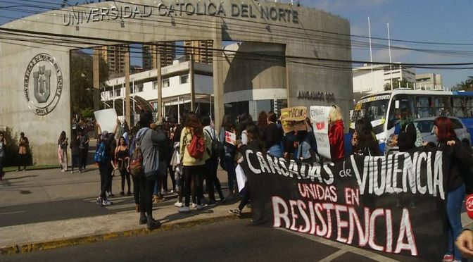 Profesoras de la Universidad Católica del Norte acusan que fueron despedidas por su apoyo al movimiento feminista
