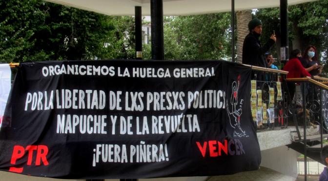 Continúan las movilizaciones en Valparaíso por la libertad de los presos políticos