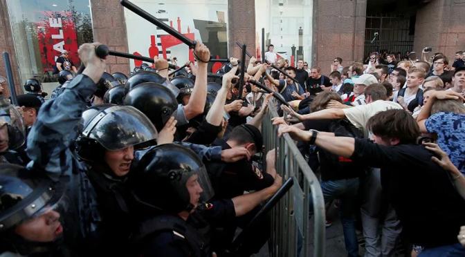 Las movilizaciones contra Putin en Rusia