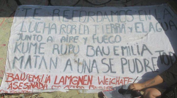 Realizan en Valparaíso ceremonia de despedida en homenaje a Emilia-Bau, asesinada por guardias de condominio en Panguipulli