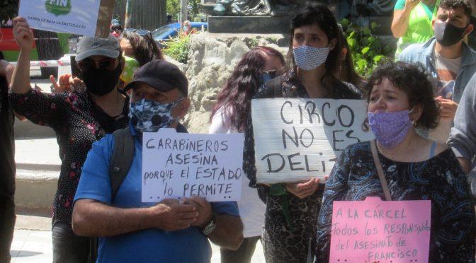Jornada de protesta en Valparaíso ante el brutal asesinato del joven Francisco Martínez