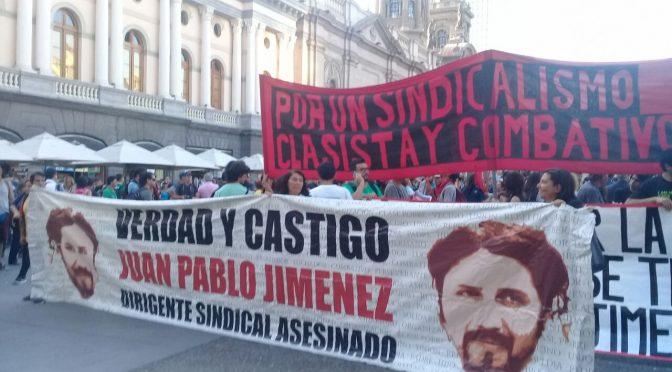 Con el ejemplo de Juan Pablo Jiménez: a conquistar las demandas de la clase trabajadora