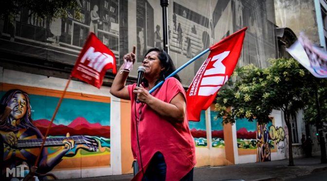 ¡Rechazamos la persecución de Carabineros y la Justicia en contra de nuestra compañera María Rivera!