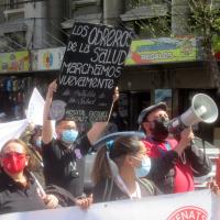 Trabajadores de la salud, de la educación y de las grandes tiendas se movilizan simultáneamente en Valparaíso
